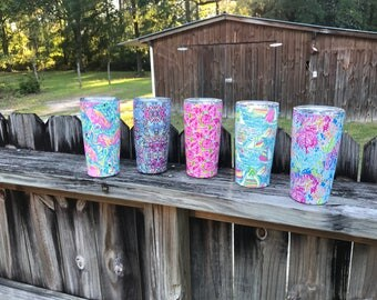 Lily Pulitzer inspired Stainless Steel Tumbler