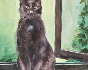 Cat No13 family water color