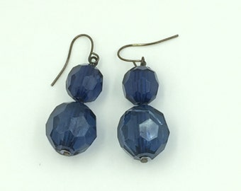 Blue Bead Dangle Earrings BUY 3 Get 1 FREE