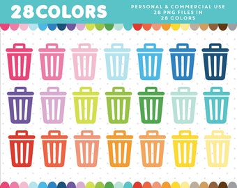 Trash Can clipart, Cleaning Clip art, Garbage clipart, Household clipart, Trash can Icon, Chores clipart, Recycling clipart, CL-378