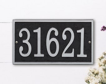 Rectangle Cast Address Plaque, Ships in 4 days!