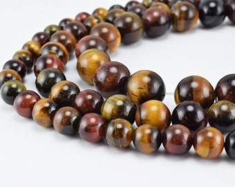 Mixed Color Tiger Eye Gemstone Round Beads 8mm/10mm/12mm Natural Stones Beads natural healing stone chakra stones for Jewelry Making