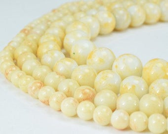 Two Tone Creamy Color Glass Beads Round 6mm/8mm/10mm/12mm Shine Round Beads For Jewelry Making