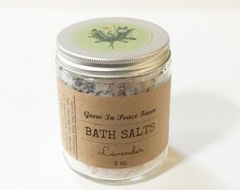 Lavender Bath Salts - Relaxing & Soothing