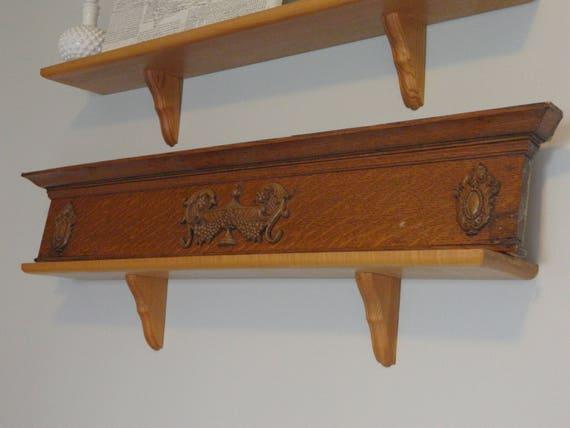 Ornate Door Pediment, Antique Door Header, Antique Pediment, Carved Wood  Decor, Antique Shelf, Architecture Salvage Wood Antique Wood Trim, ... - Ornate Door Pediment, Antique Door Header, Antique Pediment