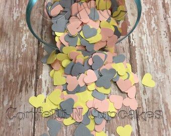 Heart Confetti, Cardstock hearts, Baby Girl Shower, Confetti sprinkle, Wedding Party decorations, scrapbook embellishments, pinata filler