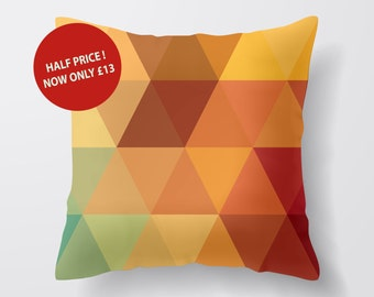 Multi Colour Triangle Cotton Cushion