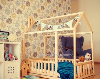 Toddler Bed Play House Bed Frame Children Bed By