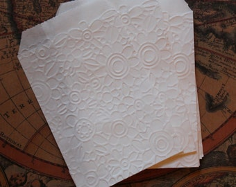"""paper carrier bags 7 x 10 """"confettata"""" embossed pattern"""