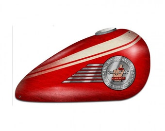 Red Motorcycle Tank