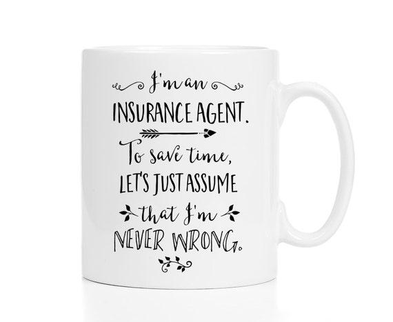 Insurance Agent Mug / Gift for Insurance Agent / Insurance