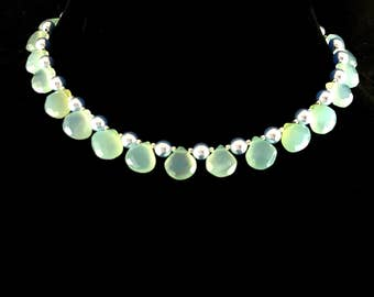 """Mint chalcedony necklace """"Chalcedony spring"""""""
