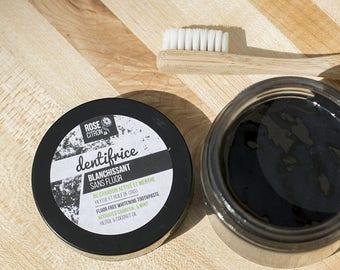 Toothpaste whitening coal