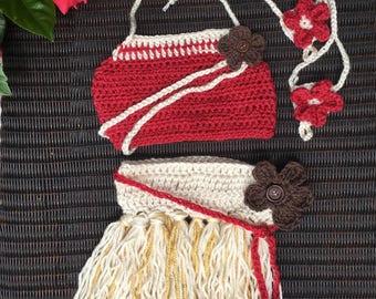 Moana inspired outfit, Baby hula outfit, hula girl, hula Photo prop, hawaii baby outfit, baby shower, moana dress, disney princess