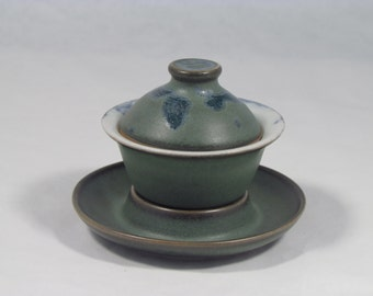 Gaiwan #496,  Gong Fu Style Tea Pot, Wheel Thrown teapot, Handmade Porcelain Gaiwan, Ceramic Gaiwan, Wheel Thrown Gaiwan