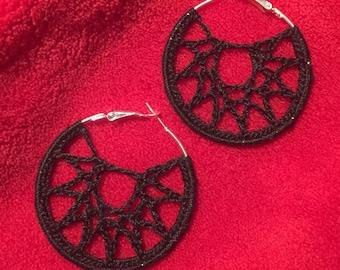 Light weight boho style hand crocheted earrings