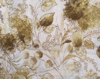 1950s Cotton Garden Floral Yardage