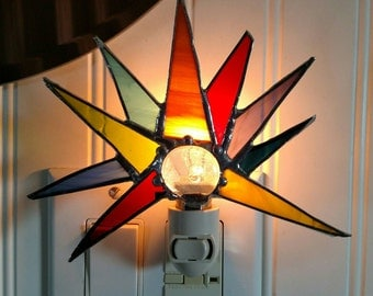 Winter Solstice Stained Glass Nightlight
