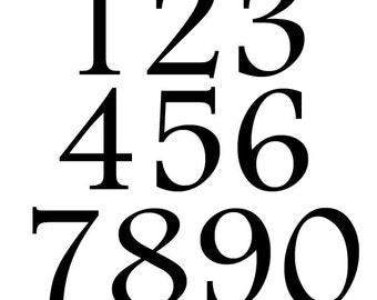 Number Stickers. 4 inches High. Large Number Decals. Number Wall Decals. Wheelie Bin Numbers. FREE UK SHIPPING.