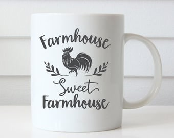 Farmhouse Coffee Mugs, Farmhouse Mugs, Farm House Kitchen, Farm House Decor, Farmhouse Decor, Farmhouse Quotes, Farmhouse Art, Rooster Mug