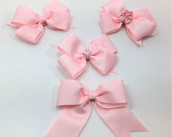 Light Pink Boutique Hair Bows, Hair Bows For Girls, Hair Clips, Girls Hair Bows,#HB-35-38,