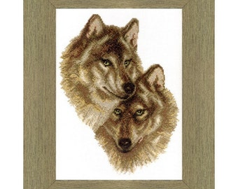 Cross Stitch Kit Wolves