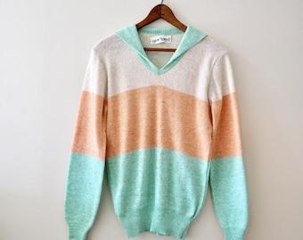 Vintage Lightweight Pastel Colorblock Sweater
