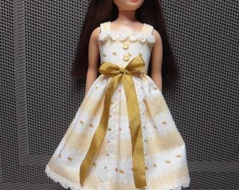 SkKIPPER DOLL -- Floral pattern cotton Sundress--