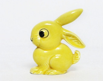 vintage Goebbel West Germany ceramic yellow bunny rabbit OH 20,I