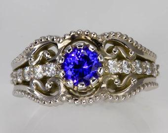 Christopher Michael Custom Design Antique Tanzanite Ring