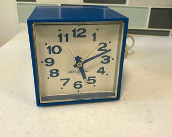Seth Thomas alarm clock cube - blue