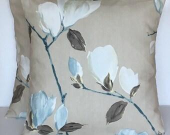 "2 x 16"" (40cm x 40cm) Prestigious Marine Floral Print Cushion Covers"