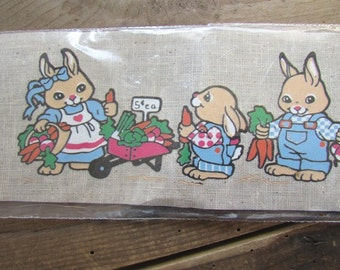 Iron On Transfer Bunnies Peters Garden Trans Easy