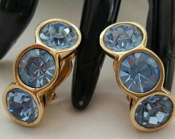S.A.L. (Swarovski) Light Blue Earrings