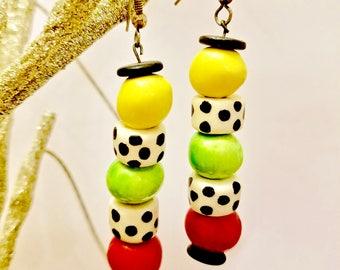 Long Earrings, Lucky Dice - Casino Earrings, Las Vegas - Good Luck Charm - Gambling Vacation Jewelry