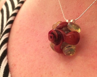 Glass Rose Pendant