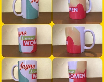 loose women mug personalised mug cup gift present itv morning tv fan any name :)