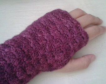 Hand knitted fingerless gloves, handwarmers, mittens