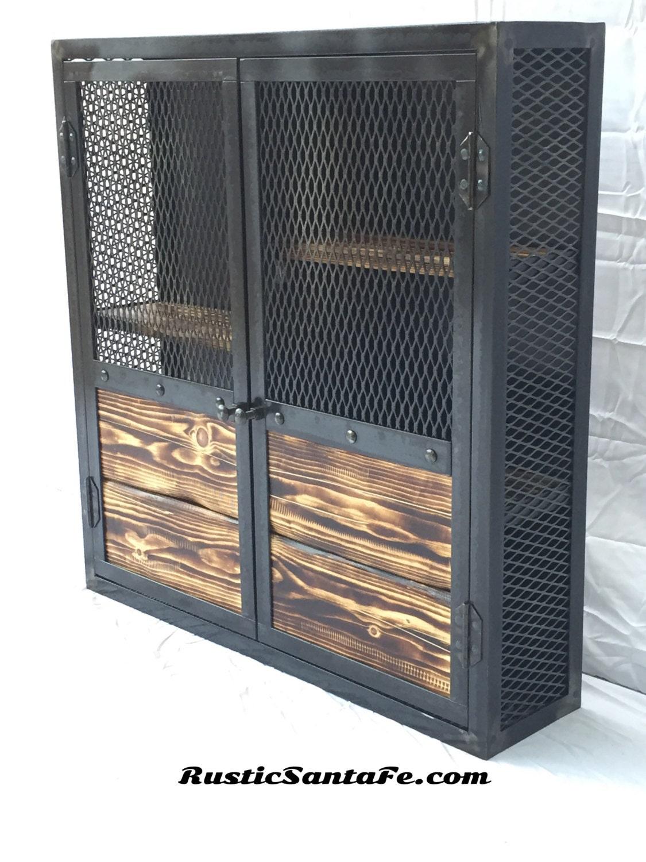 Rustic Liquor Cabinet Reclaimed Industrial Cabinet Liquor