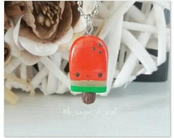Kawaii watermelon popsicle charm - summer style - fresh fruit cute miniature