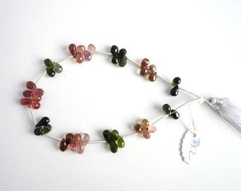 Tourmaline Faceted Drops TRK2