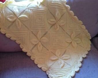 Yellow petal baby blanket