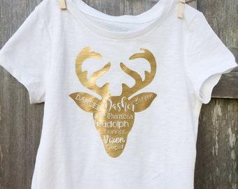 Santa's Reindeer shirt, kids, women