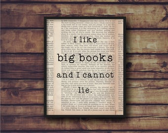 I Like Big Books digital print