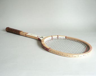 Vintage Wood Tennis Racket by Dunlop