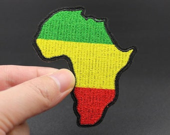 Africa Map Iron On Patch Embroidered patch 7x8cm - PH371