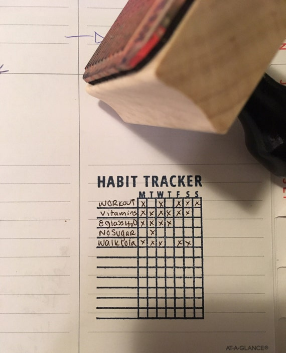 Calendar Stamp Bullet Journal : Habit tracker bullet journal stamp free shipping