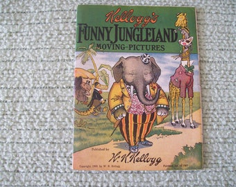 Kellogg's Funny Jungleland Moving Pictures 1909 Softcover. Price Includes Shipping.