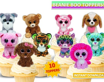 Beanie Boo cupcake toppers/ Beanie boo Printables/ Instant Download/ You Print 50% OFF