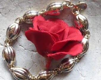 Bracelet, vintage, link bracelet, bracelet, golr and silver, beautiful bracelets of good Vintagezustand, arm jewellery, bracelet